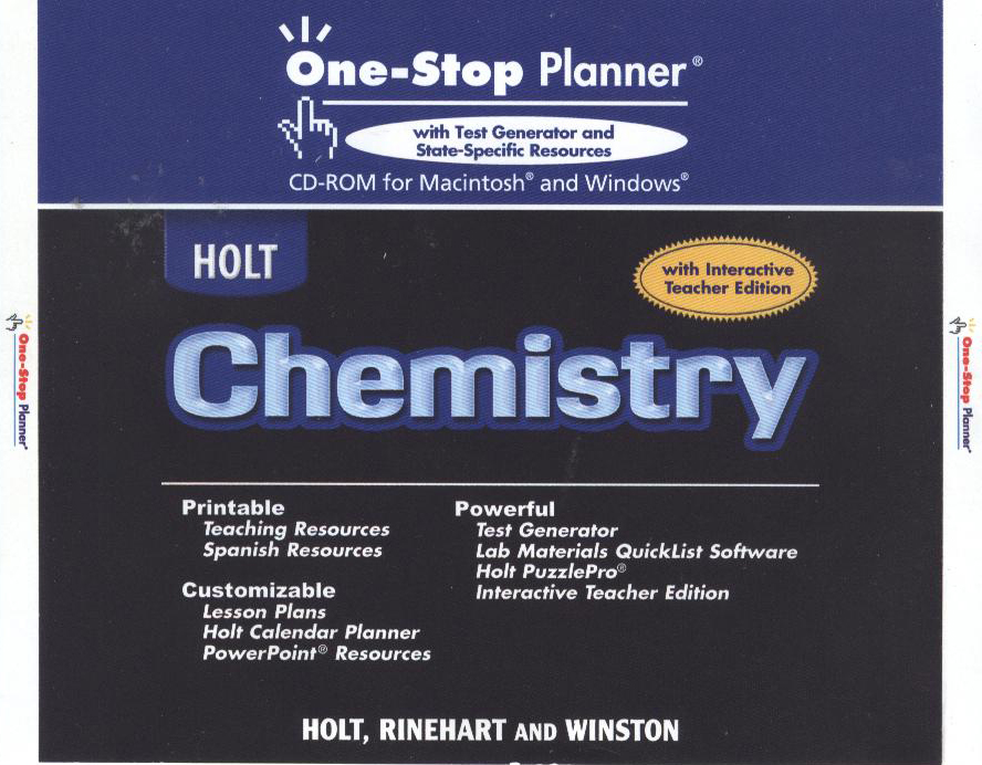 Chemistry  : one-stop planner