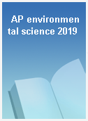 AP environmental science 2019