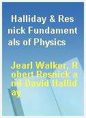Halliday & Resnick Fundamentals of Physics